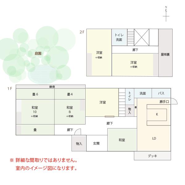 松川村・庭園付中古住宅(住宅・店舗)_サブ画像02