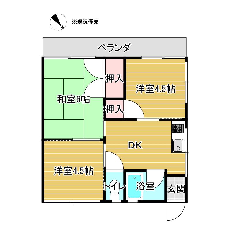 アイリスK B棟 E号室_サブ画像02